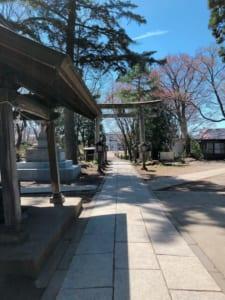 蚕養国神社、参道から入口方向