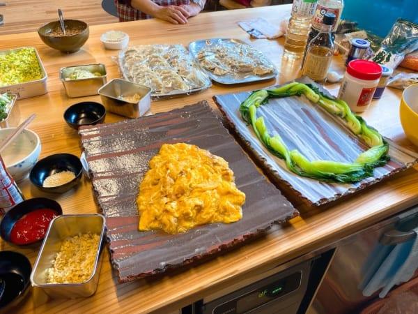 西会津国際芸術村、着々と進む料理