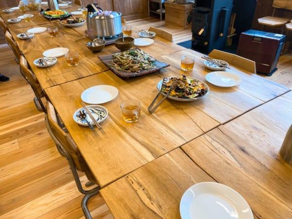 西会津国際芸術村、本日の食卓