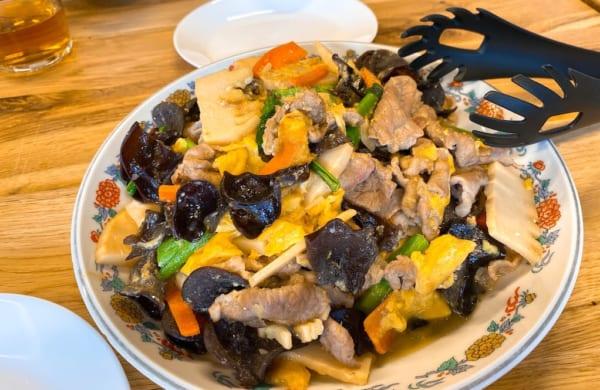 西会津国際芸術村、キクラゲの炒め物