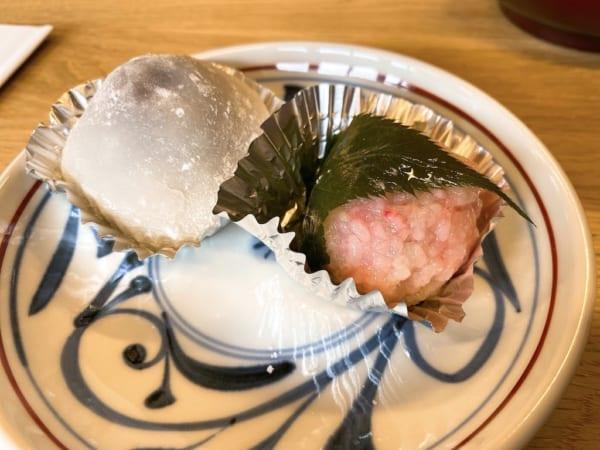 西会津国際芸術村、いちご大福と桜餅