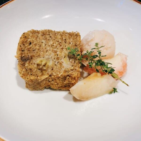 食堂 Kontsh (こんとしゅ) デザートプレート、桃と甘酒のシャーベット