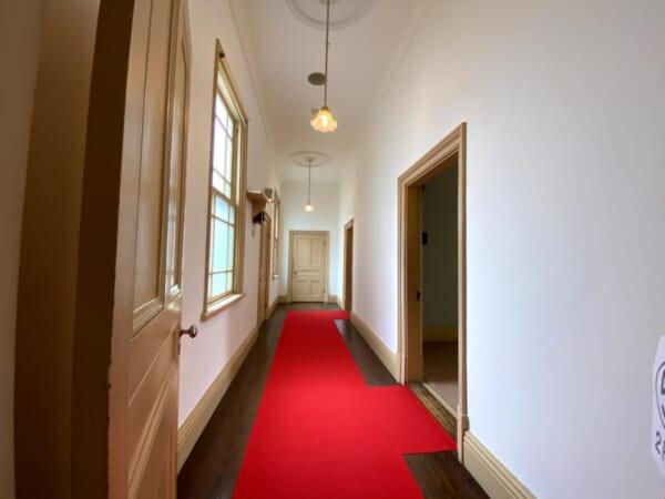 天鏡閣 付属室への廊下