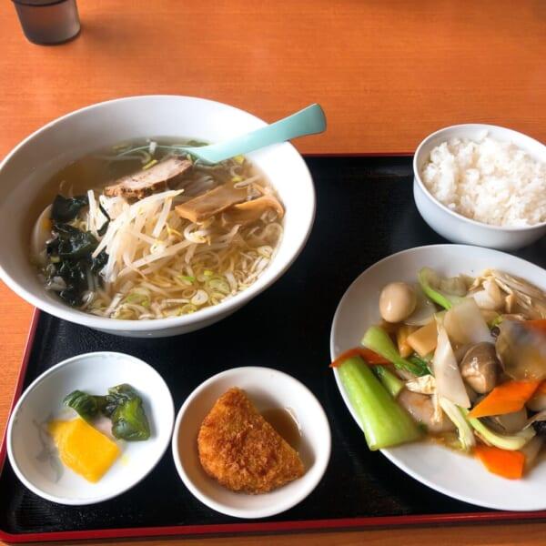 台湾料理 広源 八宝菜+塩ラーメン