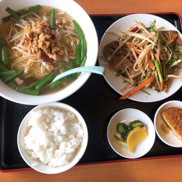 台湾料理 広源 ニラレバ+味噌台湾ラーメン