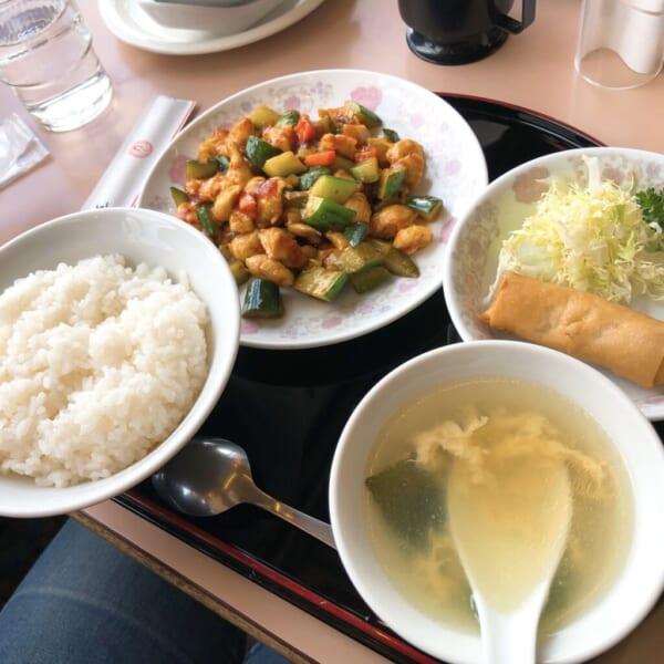 黄鶴楼 680円の選べるランチ、鶏肉の辛味炒め