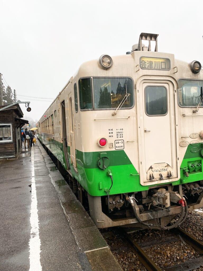 昭和村 雪まつり キハ40
