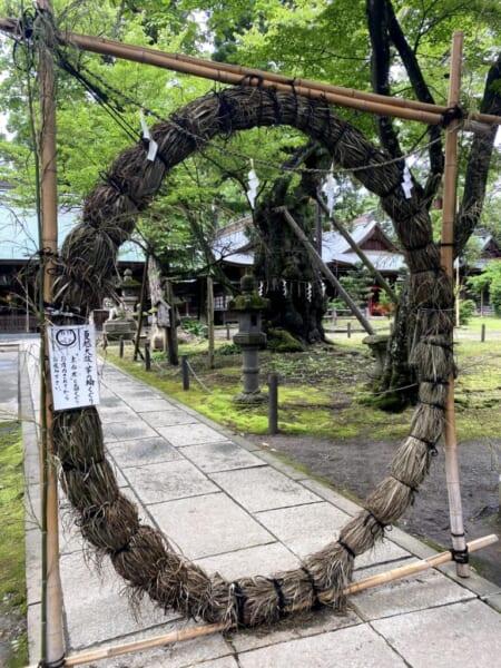 蚕養国神社(こがいくに神社) 茅の輪