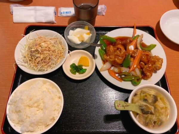 台湾料理 広源 定食セット 酢豚