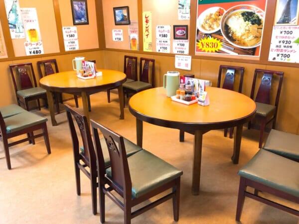 南京飯店 テーブル席