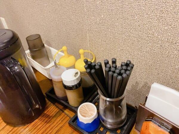 菜華楼(さいかろう) 箸、調味料類