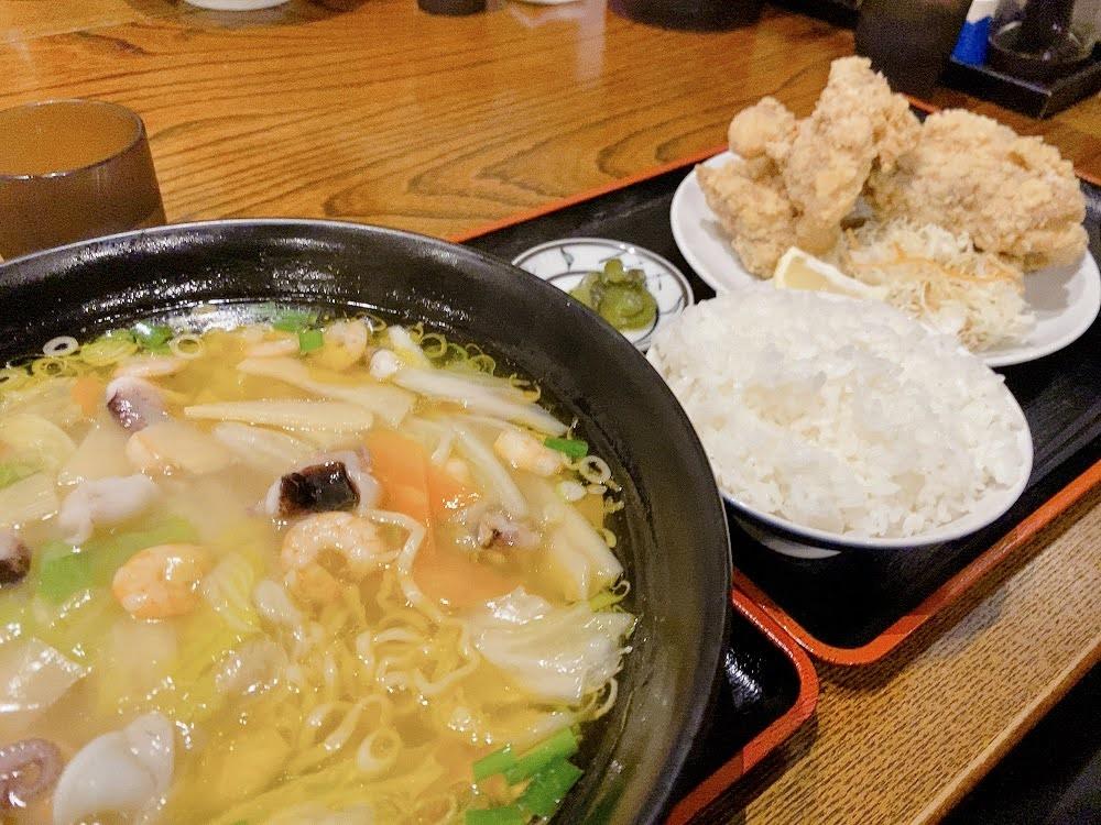 菜華楼(さいかろう) 中華麺と鳥の唐揚げ定食