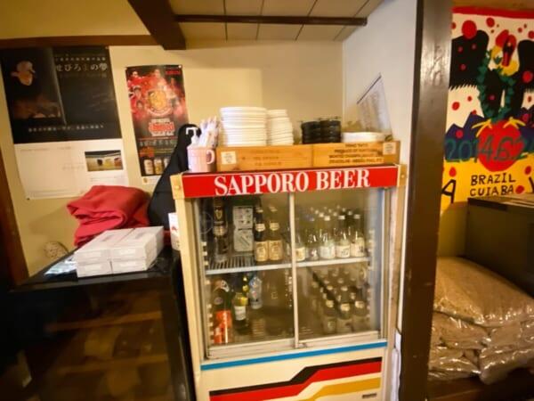 喜多方バル 座敷の冷蔵庫