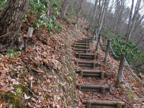 バスツアー 冬の奥会津を巡る旅 道の駅 みしま宿 階段