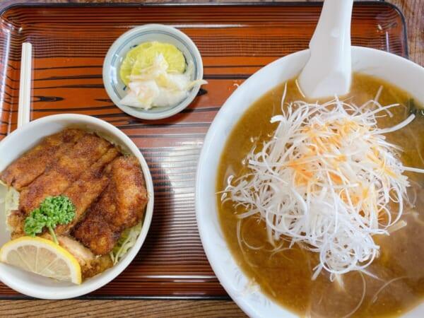 いとう食堂 ミニソースカツ丼+みそネギラーメン