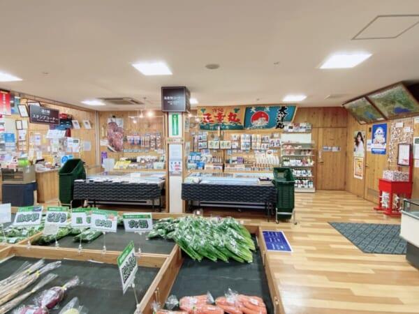 道の駅 ばんだい 野菜コーナー&海産物コーナー