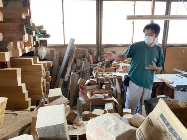 木地師職人さんの工房