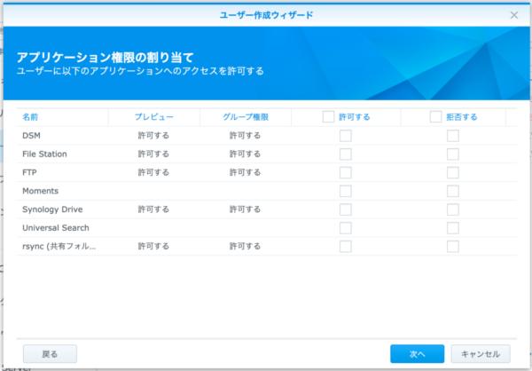 Synology DMS ユーザー作成5