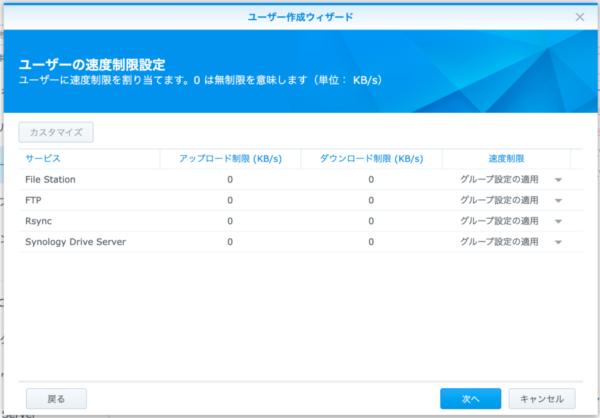 Synology DMS ユーザー作成6