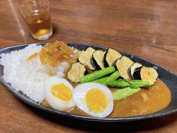 野菜素揚げ&カレー