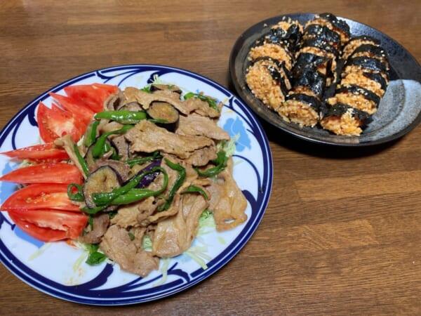 韓国風海苔巻き、焼肉
